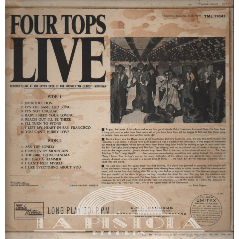 Four Tops - Live - La-Pistola-Records com